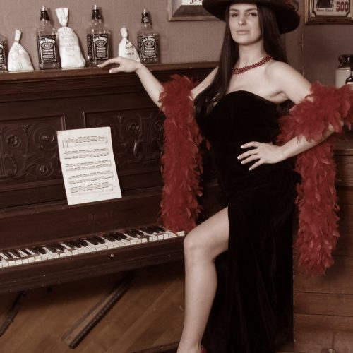 Sultry Themed Photoshoot With Piano