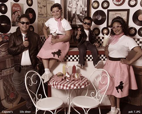 50s Diner Family Portrait