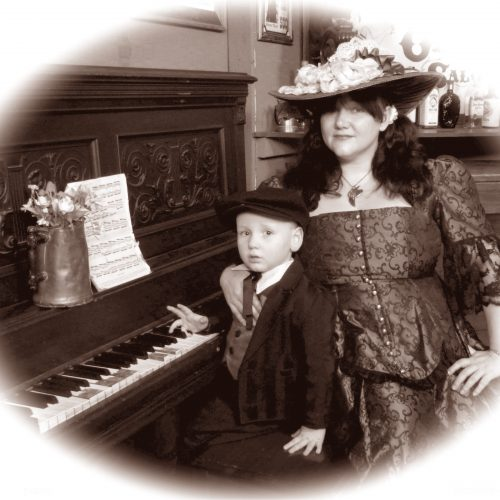Mother and Son Piano Themed Photoshoot