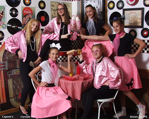 Children in 50s Outfit