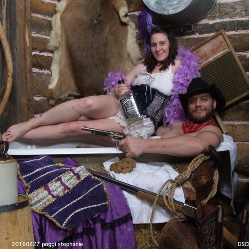 Purple Themed Tub Photoshoot