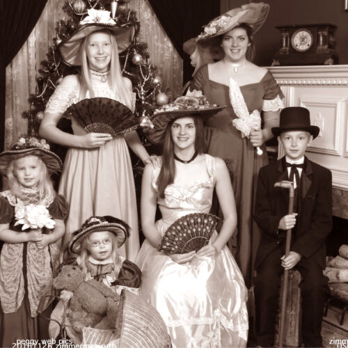 Women and Kids Victorian Theme